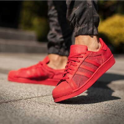 6178bab878814 Adidas Pharrell Williams Superstar Supercolor Pack Red Shell Toe Shoes Size  8.5.  16.88 2 Bids 5d 9h. See Details. adidas Originals Mens Superstar  Trainers