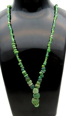 Viking Glass Beaded Necklace - Very Rare Wearable Artifact Fantastic - B518