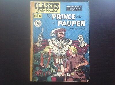 Classics Illustrated #29 RARE Canadian Variant 1.5 Prince & The Pauper MarkTwain