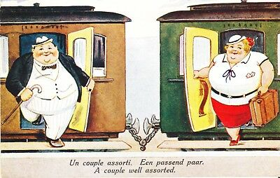 Un Couple Assorti     Een Passend Paar  Carte  Postale  Humoristique  1934