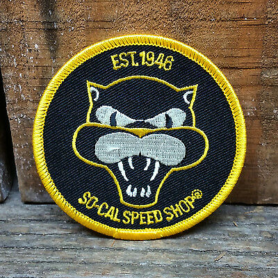 So Cal Jacket Patch Black Cat Rat Hot Rod Custom Chopper Bomber Nose Art Style