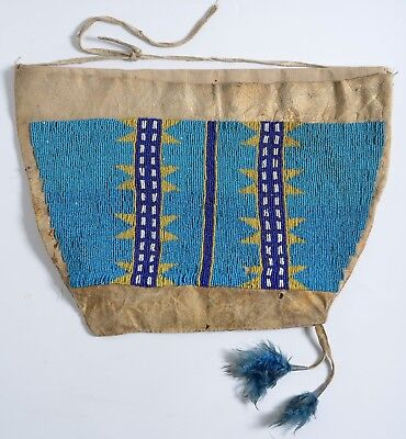 Antique ARAPAHO beaded - Possible BAG - Deer Hide Plains Indians Native American