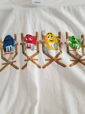 NWT M & M Candy T-Shirt, Medium,M & M Characters sit on Director Chair