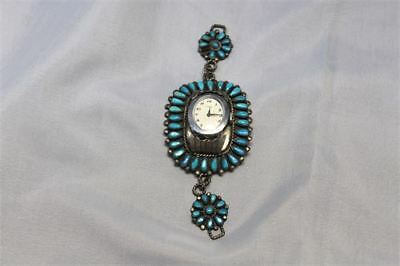 Vintage S.M. Bahe , Navajo Sterling silver Turquoise Watch Band