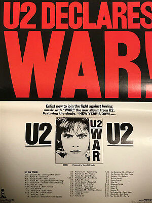 """U2 DECLARES WAR"" very rare U2 promo AD"