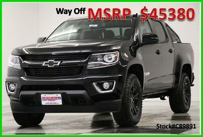 2018 Chevrolet Colorado MSRP$45380 Z71 Midnight Edition GPS Black Crew 4WD New Navigation Heated Seats Camera Bluetooth 16 2017 17 18 Blacked Out Cab V6