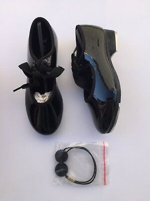New Girls Bloch Black Tap Shoes Size 9.5 M Student Patent SF3720G Technotap #3