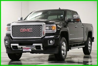 2016 GMC Sierra 3500 HD 4X4 Denali SRW Sunroof GPS Diesel Crew Black 4WD Used 3500HD Navigation Duramax Heated Cooled Leather 17 18 2017 16 Cab Bluetooth