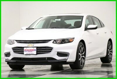 2018 Chevrolet Malibu MSRP$30335 LT Sunroof Leather Summit White New Turbo Heated Seats Camera Bluetooth Keyless Entry Remote Start 17 16 2017 18