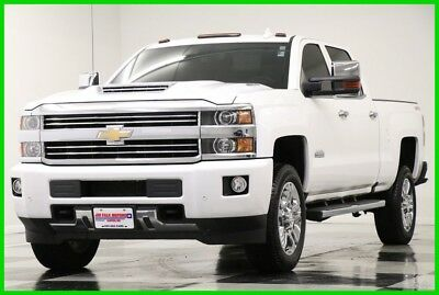2016 Chevrolet Silverado 2500 HD 4X4 High Country Diesel DVD Sunroof White Crew Used 2500HD Duramax Heated Cooled Leather Navigation GPS 17 18 2018 16 Cab