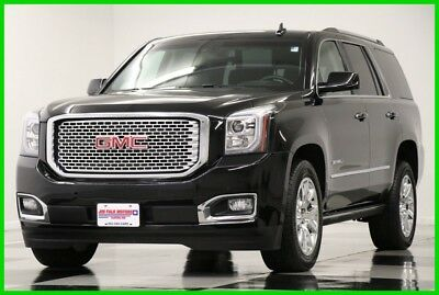 2016 GMC Yukon Denali 4WD Sunroof DVD Leather GPS Onyx Black 4X4 Like New Navigation Heated Cooled Leather 6.2L V8 20 In Chrome 7 Seats 17 2017