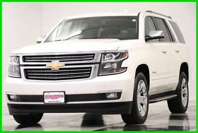 2015 Chevrolet Tahoe 4X4 LTZ Sunroof GPS Leather White Diamond 4WD Used Heated Cooled Seats Navigation Camera 20 In Chrome Rims 16 17 2016 15 5.3