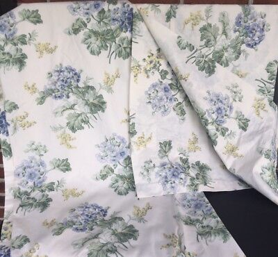 Laura Ashley Josephine French Country 85x41 Panels Curtains Lined  Valence 86x17