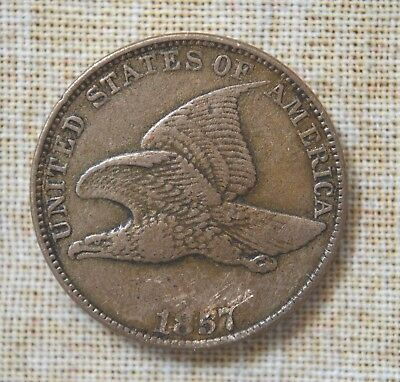 1857 Flying Eagle Cent - Small Cent - Very Fine Details