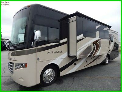 2016 Thor Miramar 34.1 Used Coach Class A Gas Motorhome RV Slides and toppers