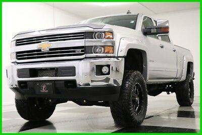 2015 Chevrolet Silverado 2500 HD LTZ 4WD Lifted Diesel Sunroof GPS Silver Crew 4X4 Used 2500HD Heated Cooled Leather GPS Navigation 16 17 2016 15 Cab Duramax 6.6L