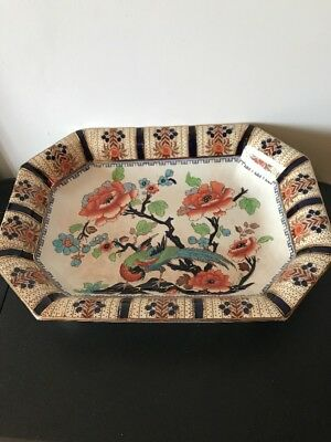 "Art Deco Keeling & Co. Ltd -Losol Ware Large Serving Dish ""shanghai"" Pattern."