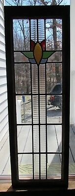Gorgeous Antique Stained Glass Leaded Window  Excellent