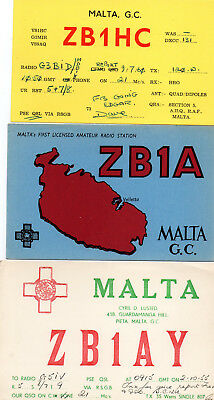 Malta 3 Amateurfunk QSL Karten - Amateur Radio Station cards