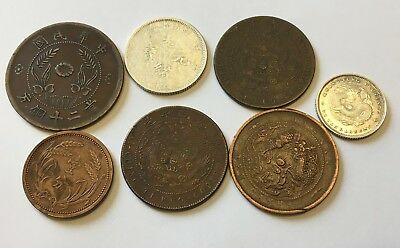 Lot of 7 Mixed China and World Coins #5