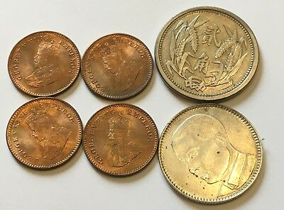Lot of 6 Mixed China and World Coins #2