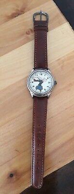 Fossil 1994 Popeye the Sailor Man Leather Watch Limited Edition