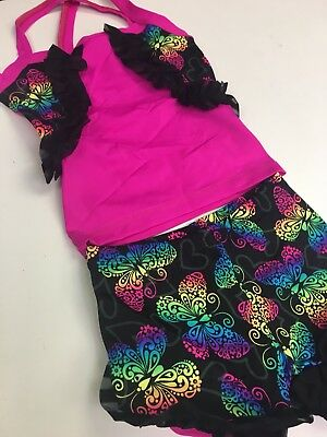 Lexi Luu Girl's XS/ Butterfly Black Ruffle Outfit