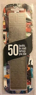 50 Books To Read Before You Die, Stainless Steel Bookmark.