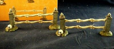 "D56 -Snow Village Halloween ""Boneyard Straight Fence""  #4054261 set of 2"