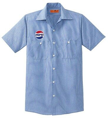 Free PEPSI Patch w/ Purchase Of Delivery Man WORK SHIRT Soda Cola U Pic Size