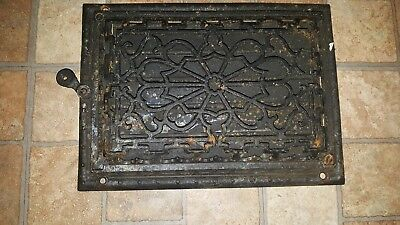 Antique Ornate Cast Iron Floor Grate Register Cold Air Return