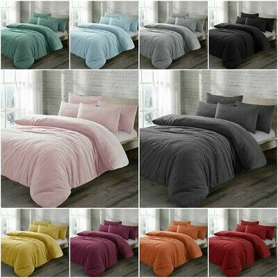 loading teddy quilt duvet pillowcase bear fleece fitted image or cover s bed warm sheet cozy is itm