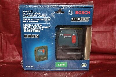 *NEW* Bosch GPL 3S 3-Point Self-Leveling Alignment Laser Level