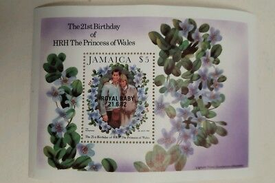 stamps  jamaica mini sheet - 1982 - 21st birth of princes wales - MNH - lot 707