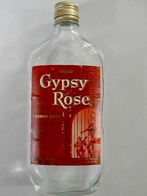 Vintage Collectable 1960s Nostalgia Gallo Gypsy Rose Wine Bottle Flask Very Rare