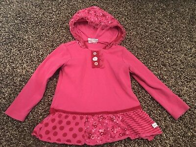 Toddler girl naartjie pink hooded long sleeve top size 3 years