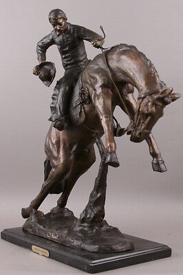 Charles Russell Bronco Twister Bronze Statue Western Art Sculpture 24 inches
