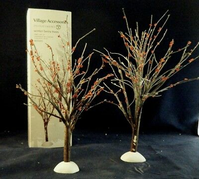 "Department 56 Accessory ""Winter Berry Trees"" set of 2   #4020263"