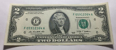 United States 2009 Two Dollars Note - Serial # F05912364A