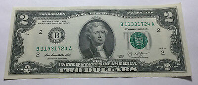 United States 2013 Two Dollars Note - Serial # B11331724A