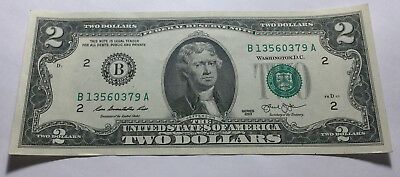 United States 2013 Two Dollars Note - Serial # B13560379A