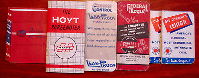 Vintage 6 pads '53 Chrome Control Piston Rings '53 Federal Mogul World Book Coal