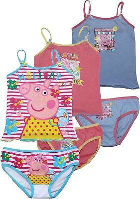 Peppa Pig Girls Holiday 3 Pack Vest And Underwear Set