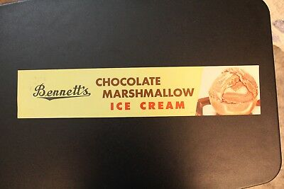 Chocolate Marshmallow Ice Cream Bennett's Creamery Ottawa KS Kansas Poster Paper