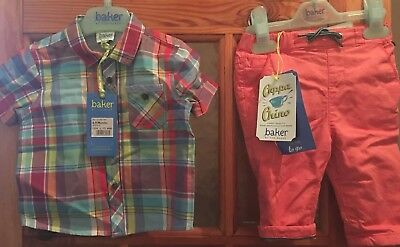 Boys 6-9 Months Ted Baker Chinos And Shirt