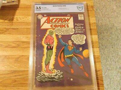 Action Comics #242 lst app and origin of Brainiac CBCS not CGC 3.5