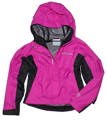Columbia Girls Mary's Peak Windbreaker Jacket, Pink/Black, XX-Small