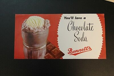 You'll Love a Chocolate Soda Bennett's Creamery Ottawa KS Kansas Poster Vintage