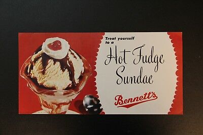 Hot Fudge Sundae Bennett's Creamery Ottawa KS Kansas Poster Vintage advertising