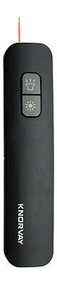Knorvay Red Laser Pointer Presenter with  Built-in LED Light-Black